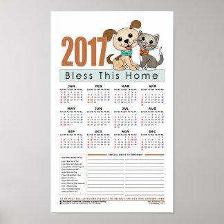 2017 Calendar (Bowwow and MeeYow) Poster