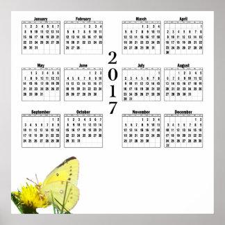 2017 Calendar - Butterfly Poster