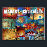 "2017 Calendar Circle of Life from Megan Duncanson<br><div class=""desc"">The 2017 MADART Circle of Life Calendar is here! Each month will bring you colorful and bold designs to brighten each day throughout the year. Created by Megan Duncanson&#169; of MADART Studios™. MADART Studios™ is a well established, licensing company with &quot;Art that Colors the Soul&quot;; featuring Megan Aroon Duncanson, Aroon...</div>"
