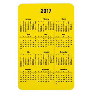 2017 Calendar Customizable Black Large Magnet