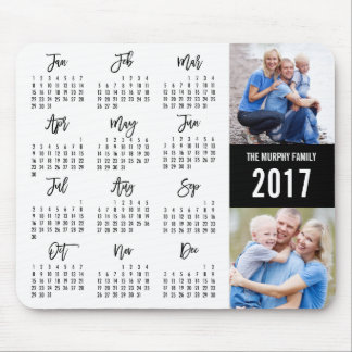 2017 Calendar EDITABLE COLOR Photo Mouse Pad