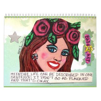2017 calendar FILLED WITH BAD GIRL ART
