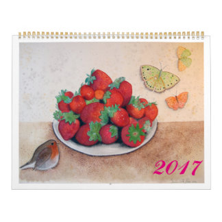 2017 Calendar Flowers, fruits & birds by ORDesigs.