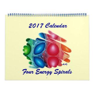 2017 Calendar Four Color Chakras Spirals Huge 2