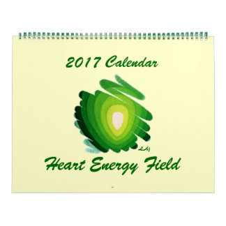 2017 Calendar Heart Chakra Green Energy Field Huge