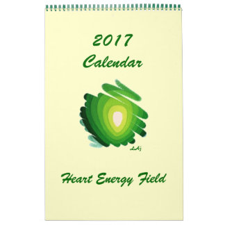 2017 Calendar Heart Chakra Green Energy Single Pag