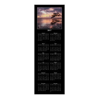 2017 Calendar Life Is Not Measured Quote Sunset Poster