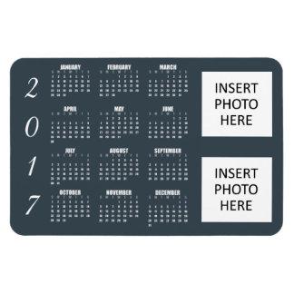 2017 Calendar Magnet Grayish Blue Steel - 2 Photos