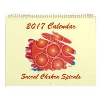 2017 Calendar Orange Sacral Chakra Vortex Huge