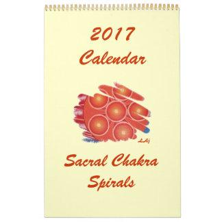 2017 Calendar Orange Sacral Chakra Vortex One Page