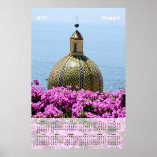 2017 calendar Positano (Italy) Poster