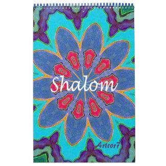 2017 Calendar Shalom Mandala Single Page