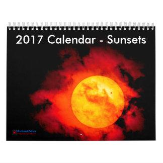 2017 Calendar - Sunsets (UK Cultural Information)