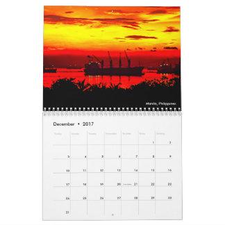 2017 Calendar - Sunsets (US Cultural Information)