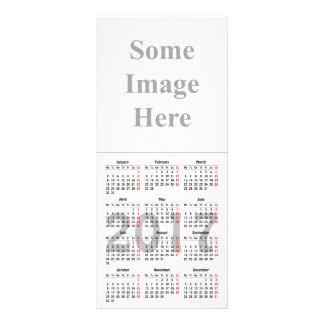2017 calendar template Rack Card