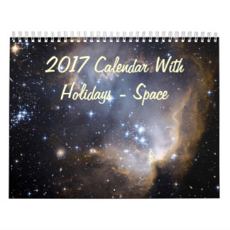 2017 Calendar With Holidays - Space