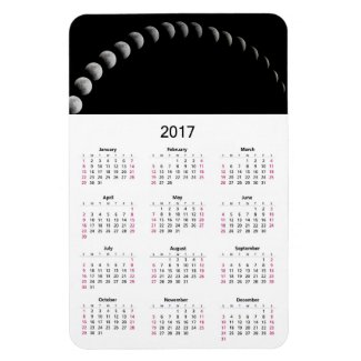 2017 Calendar with Moon Phases Photo