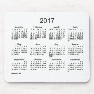 2017 Charcoal and White Calendar by Janz Mouse Pad