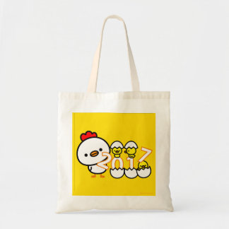 2017 chicken New year tote bag