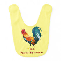 2017 Chinese New Year of the Rooster Baby Bib