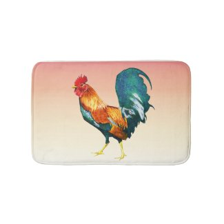 2017 Chinese New Year of the Rooster Bath Mats