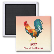 2017 Chinese New Year of the Rooster Magnet