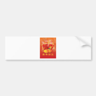 2017 Chinese New Year Rooster Red Packet Bumper Sticker