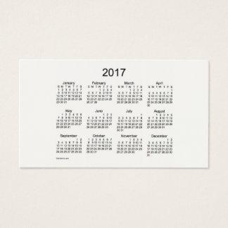 2017 Cream Pocket Calendar by Janz Business Card