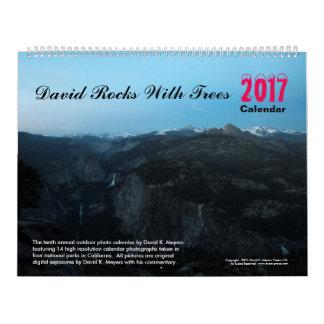 "2017 ""David Rocks with Trees"" Calendar"