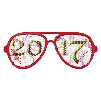 2017 de Noche Vieja las gafas de sol retras únicas Lentes De Sol