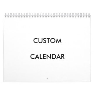 2017 Design Custom Template Calendar