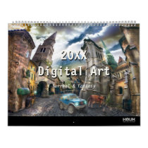 fantasy, science fiction, surreal, fairytales, funny, houk, gothic, digital art, 2017 calendar, cool, dreamland, towers, castle, countryside, spiritual, baloon, dreams, mysterious, wonderful, wonderland, spirit, eerie, country, landscape, magic, windmill, unique, cottage, artworks, fiction, bestseller, awesome, Calendar with custom graphic design