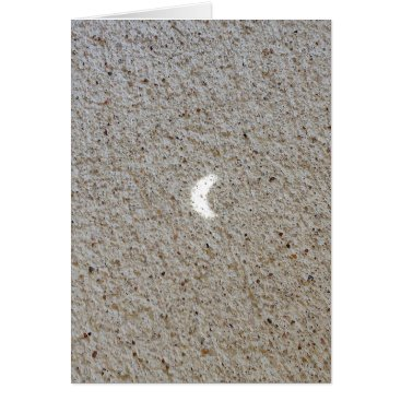 Beach Themed 2017 Eclipse Projection on Concrete Greeting Card