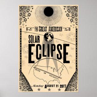 2017 Eclipse Showprint-Style Poster