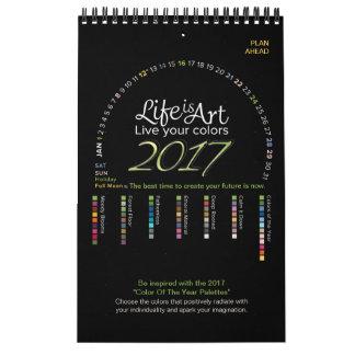 2017 el calendario - vida es el arte - viva sus