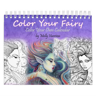 2017 Fairy Coloring Calendar Adult Coloring