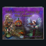 "2017 Fantasy Art Calendar by Molly Harrison<br><div class=""desc"">My 2017 wall calendar features 12 images not yet released in my calendars! I created each page individually layering my traditional illustrations over my fractal art backgrounds with added magical elements such as stars, moons and sparkles! Please note I did not put the year (2017) in print on this calendar...</div>"