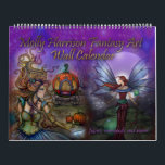 """2017 Fantasy Art Calendar by Molly Harrison<br><div class=""""desc"""">My 2017 wall calendar features 12 images not yet released in my calendars! I created each page individually layering my traditional illustrations over my fractal art backgrounds with added magical elements such as stars, moons and sparkles! Please note I did not put the year (2017) in print on this calendar...</div>"""