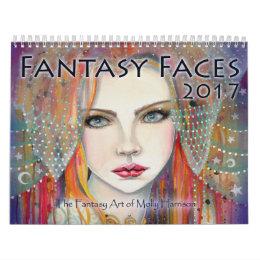 2017 Fantasy Faces Art Calendar Molly Harrison