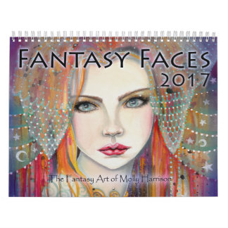 2017 Fantasy Faces Art Calendar Molly Harrison