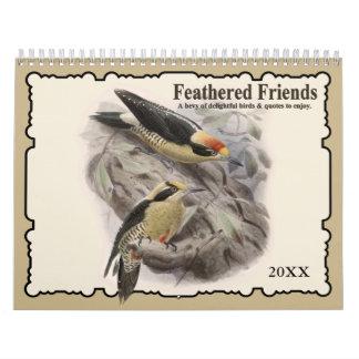 2017 Feathered Friends Bird Wall Calendar