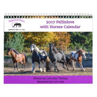 2017 Fellinlove with Horses Calendar