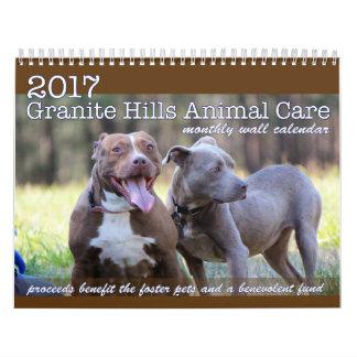 2017 GHAC monthly wall calendar