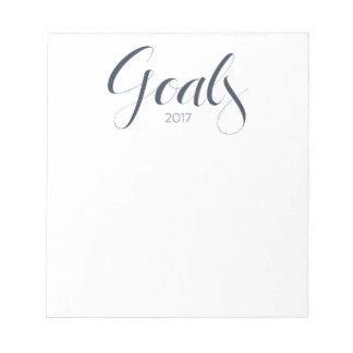 2017 Goals Notepad