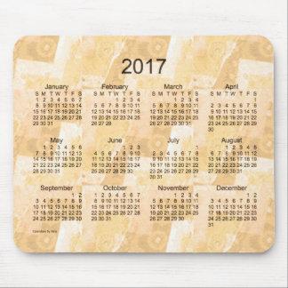 2017 Gold Patchwork Calendar by Janz Mouse Pad