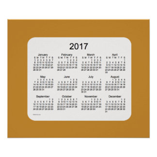 2017 Gold Wall Calendar by Janz Print