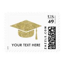 2017 Graduation Cap Postage Stamp, Faux Glitter