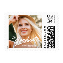 2017 Graduation Photo Painted White Brush Strokes Postage