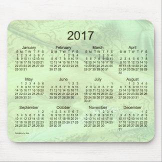 2017 Green Silk Calendar by Janz Mouse Pad