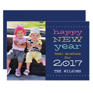 2017 Happy New Year Whimsical | Holiday Photo Card